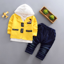 DIIMUU Children Fashion Baby Boys Clothes Toddler Clothing Cotton Long Sleeve Coats Hoodies Tops Pants Casual Outerwear Sets