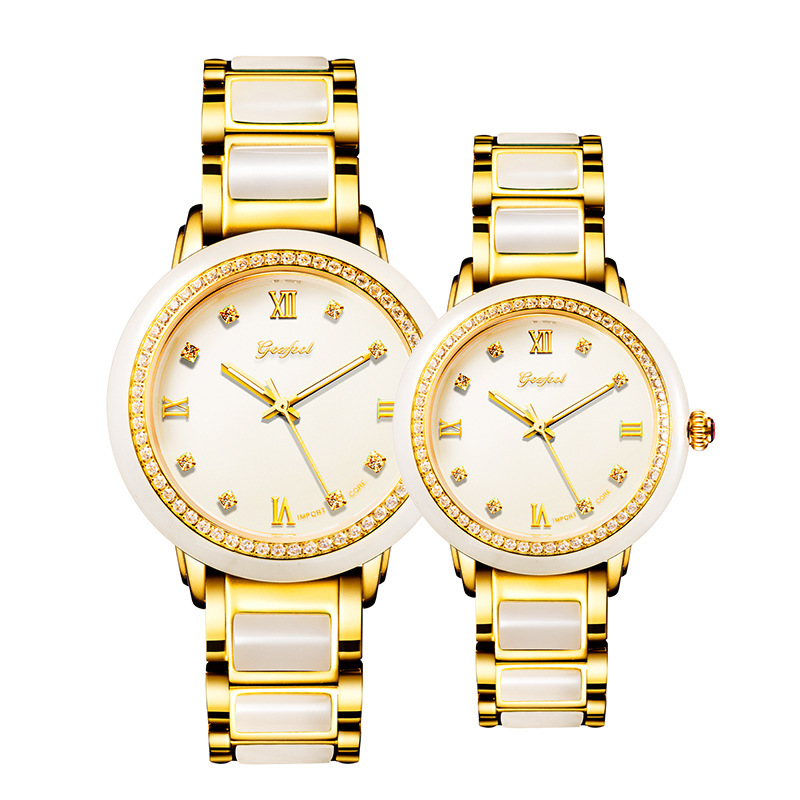 2020 Hetian Jade Watch Fashion Set Auger Lovers Table Between Automatic Mechanical Steel Hollow Out A Undertakes