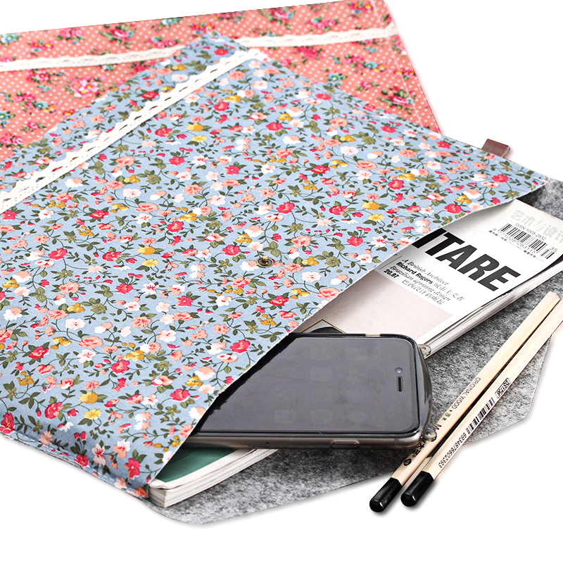 Vintage Dots Flower Face Series A4 Documents File Bag Files Folder Stationery Filing Production