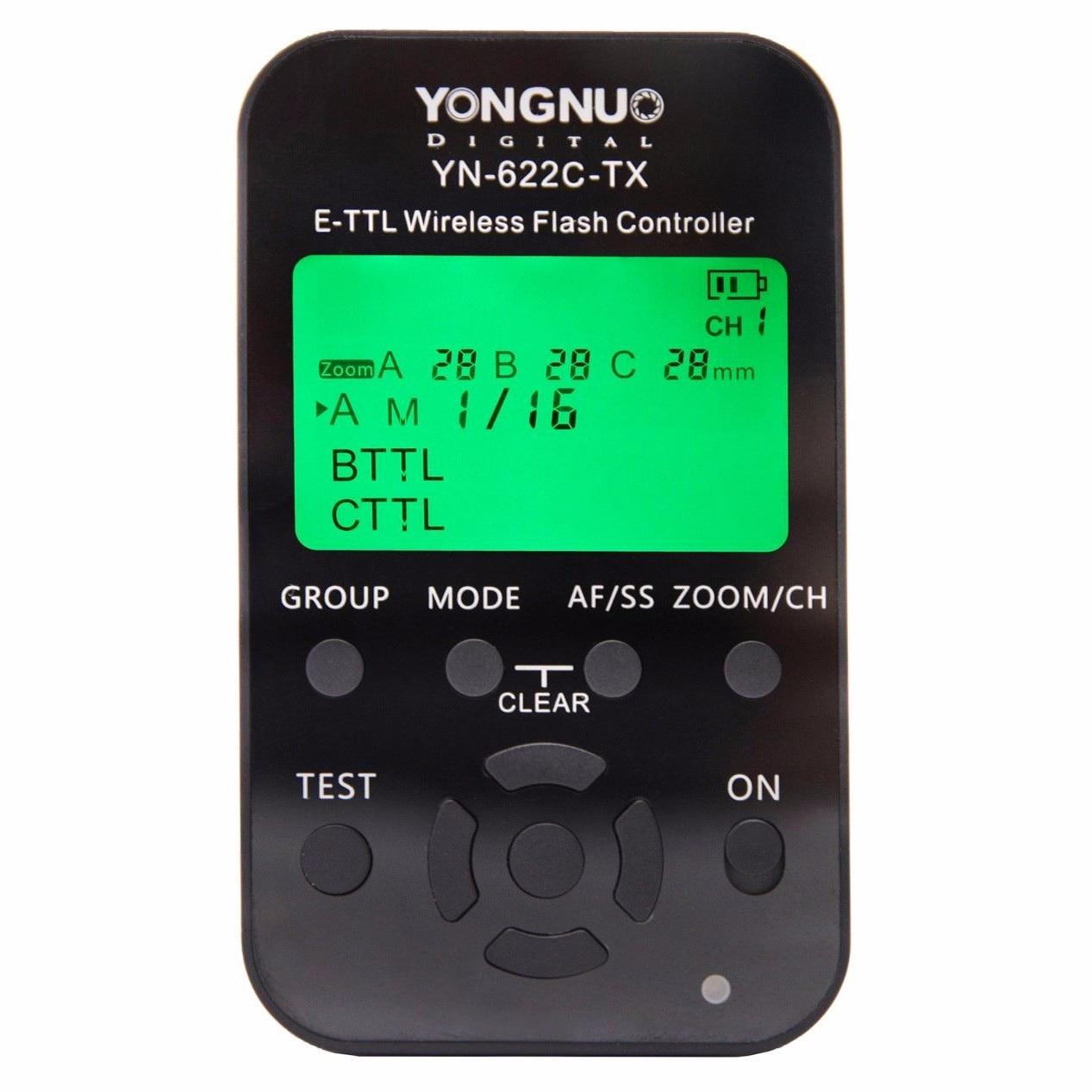YONGNUO YN622C KIT YN622C-II-RX Single Transceiver Wireless E-TTL Flash Trigger Kit with LED Screen For Canon yongnuo yn622c kit wireless e ttl hss flash trigger kit yn622c 622c transceiver