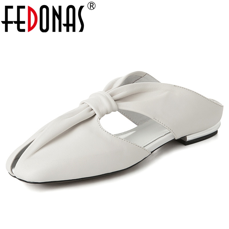 FEDONAS 2019 New Fashion Novelty Women Sandals SheepSkin High Heels Round Toe Shoes Woman Summer Rome