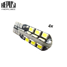 4X T10 LED Car Light Canbus 194 W5W Auto Bulbs Styling Warm White Ice Blue For volvo s40 v50 XC60 XC90 S80 Fiat Grande