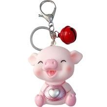 Lovely Pig Keychain gifts for women Jewelry Charming key chain ring llavero Handbag Pendant Lightweight Bag keys Accessories