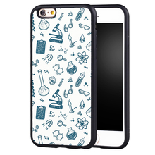Science Lab Science Molecule Printed Soft TPU Shell Skin Phone Case For iPhone 6 6S Plus 7 7 Plus 5 5S 5C SE 4 4S Back Cover