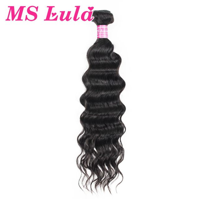 1 pc Unprocessed virgin brazilian human hair natural wave hair weave no tangle no shedding Ms Lula hair