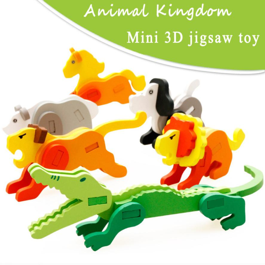 Монтессори мини-головоломки 3D для детей детские развивающие Забавные игрушки деревянные красочная головоломка Паззлы подарок Brinquedos educativos ...