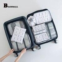 BAGSMALL 8/Set Ambalaj Küpleri Nefes Seyahat Çantası Bagaj Kozmetik Çantası ile Elektronik Ambalaj Organizatörler Vaka Fit 23
