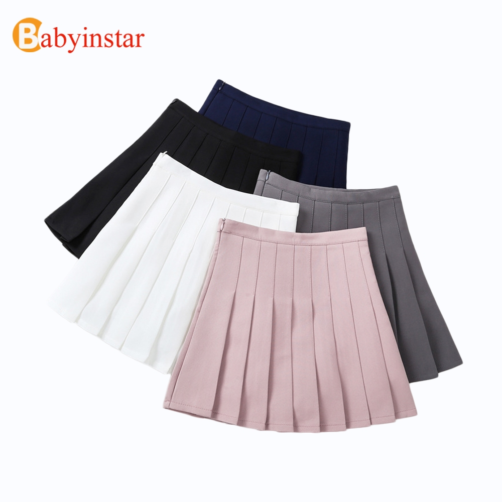 Babyinstar Baby Girls Princess Skirts 2018 Girls Skirts Cute Pleated Skirt Children's Clothing For Girls Kid's Tennis Skirts babyinstar baby girls cotton skirt 2018 autumn elastic waist cake children shorts clothing girls constume kids skirts for girls
