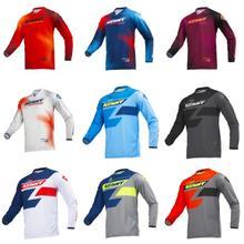 Быстросохнущая Кенни Moto Джерси MX велосипед мотокросса BMX DH MTB футболка одежда с длинным рукавом MTB дышащая рубашка