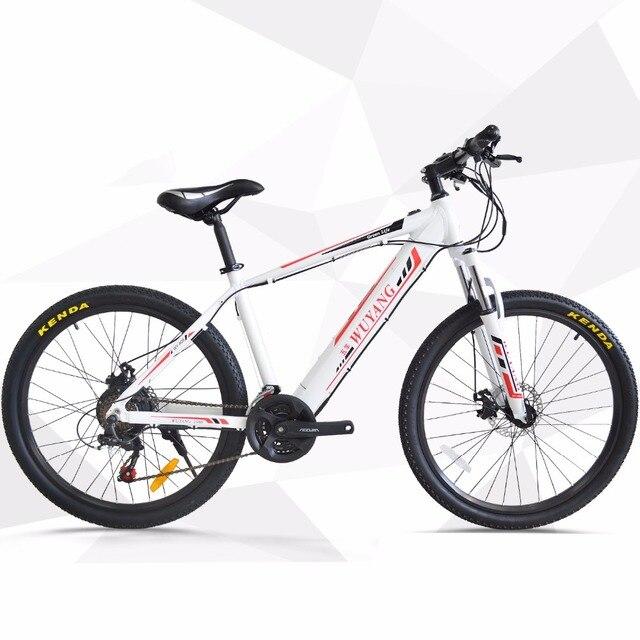 26 дюймов Электрический горный велосипед 48 В противоугонное шасси Скрытая литиевая батарея Передняя Задняя подвеска ebike 25 км/ч pas rang 60 км