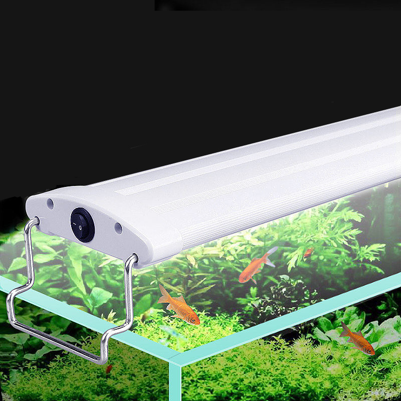 Aquarium Fish Tank Lighting 9w/12w/13w/15w/16w/18w LED Light 21/26/31/35/41/45CM Submersible Lights with Extendable Brackets