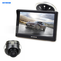 DIYSECUR 5 inch LCD Rear View Car Monitor + Back Up Rear Front Side View Cam for Parking Assistance System
