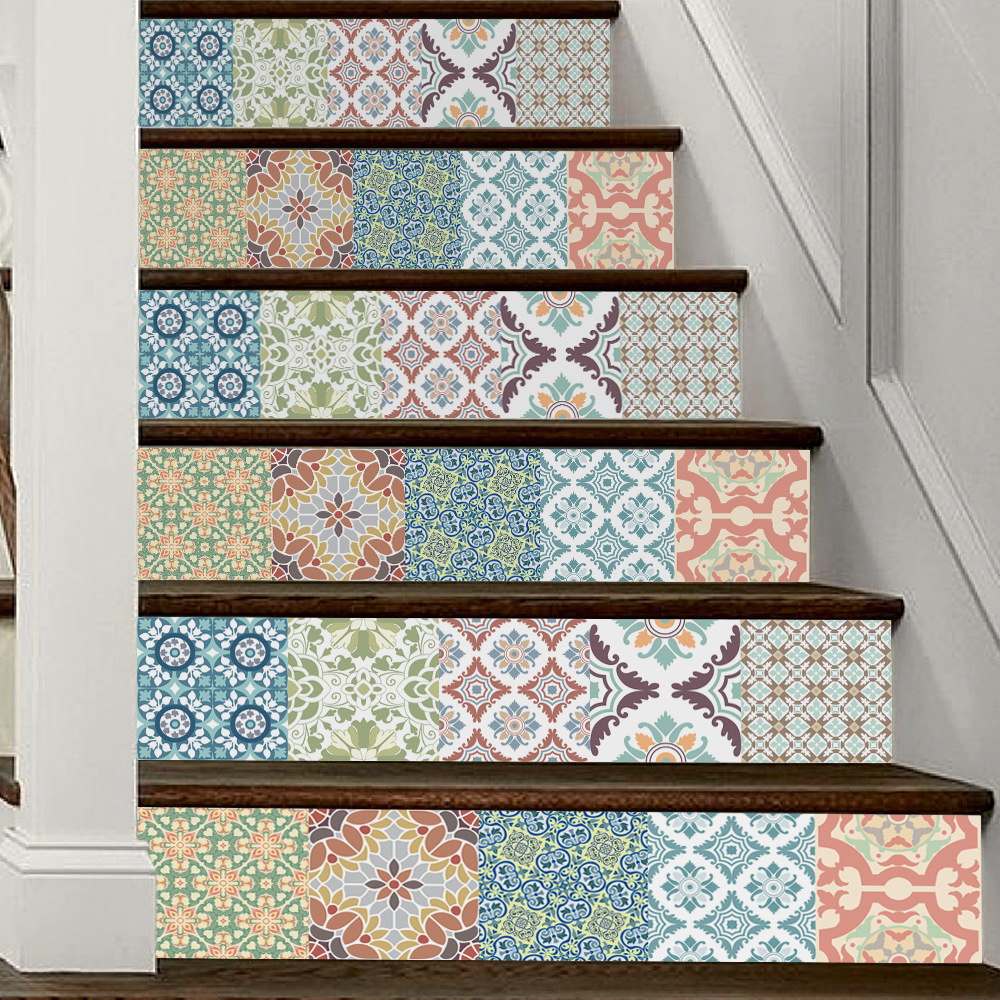 Creative Mediterranean Style 3 D Stair Stickers Funny Art Wall Stickers for Living Room, Bathroom Home Decor Waterproof FS026