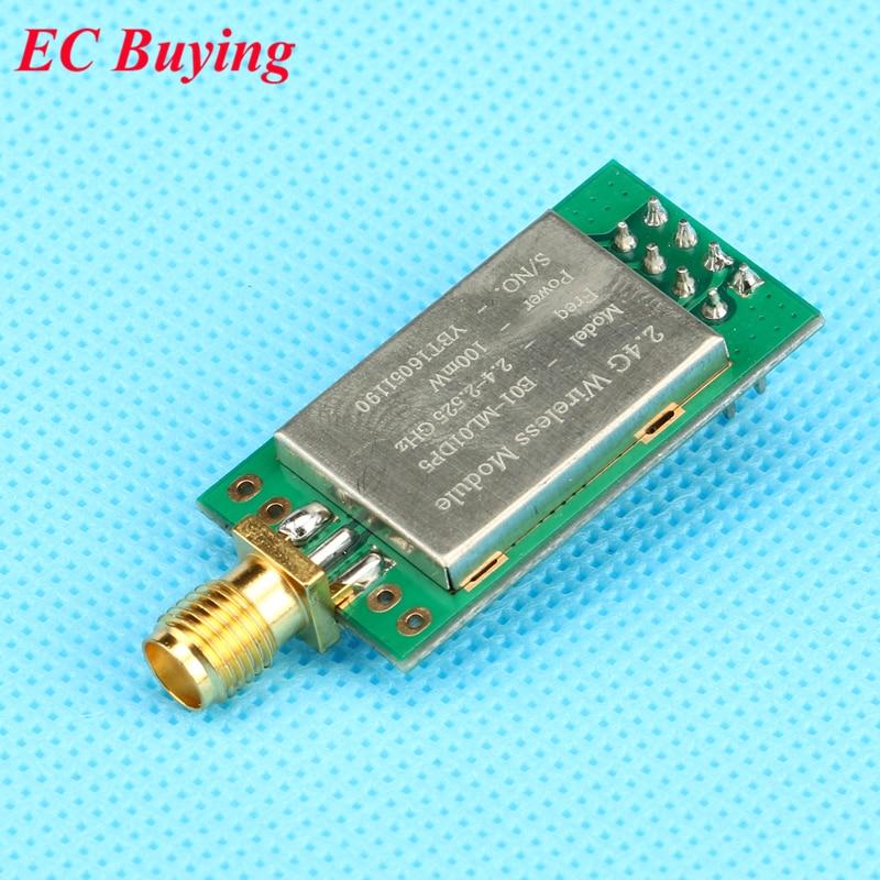 5 Stks Lange Range E01-ml01dp5 Ebyte 20dbm 2100 M Spi Nrf24l01 + Pa + Lna 2.4 Ghz Rf Wireless Transceiver Module Antenne Met Shield