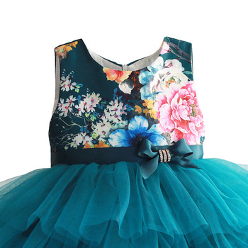 Baby Girls Dress Floral Print Wedding Pa...