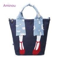 Designer Cute Women Tote Bag Fashion Canvas Shoulder Bags Tassel Ladies Handbag Fringed Denim Messenger Bag