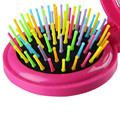 Cepillo de Pelo plegable 5 Colores Del Arco Iris de Viaje Peine Volumen Tono Mágico Del Cepillo de Caramelo Cepillo Con Espejo
