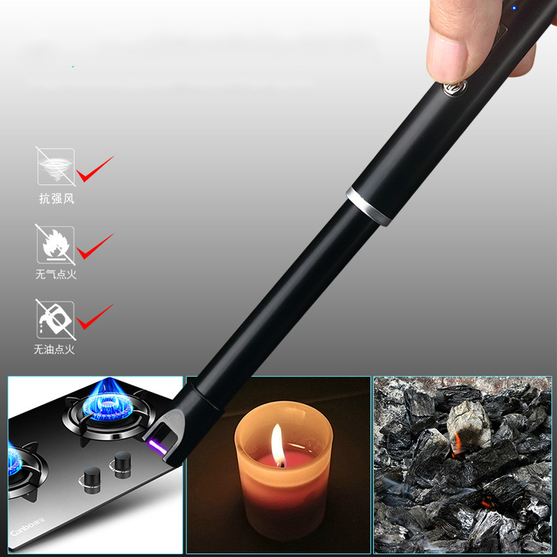 Metal Ignition Gun Arc Plasma Candle Lighter Windproof BBQ Electric USB Lighter Outdoor Rechargeable Kitchen Gas Stove Lighter in Cigarette Accessories from Home Garden