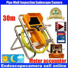 security endoscope pipe inspection camera waterproof  12pcs led lights dvr video recording 30M
