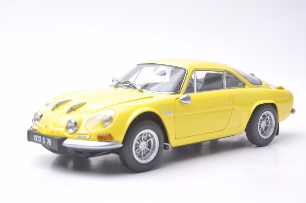1:18 Diecast Model for Alpine Renault A110 1600S 1973 Yellow Coupe Alloy Toy Car Miniature Collection Gifts yellow car model for 1 18 rover series i ltd 1948 minichamps classic collection diecast model car diy model customs made