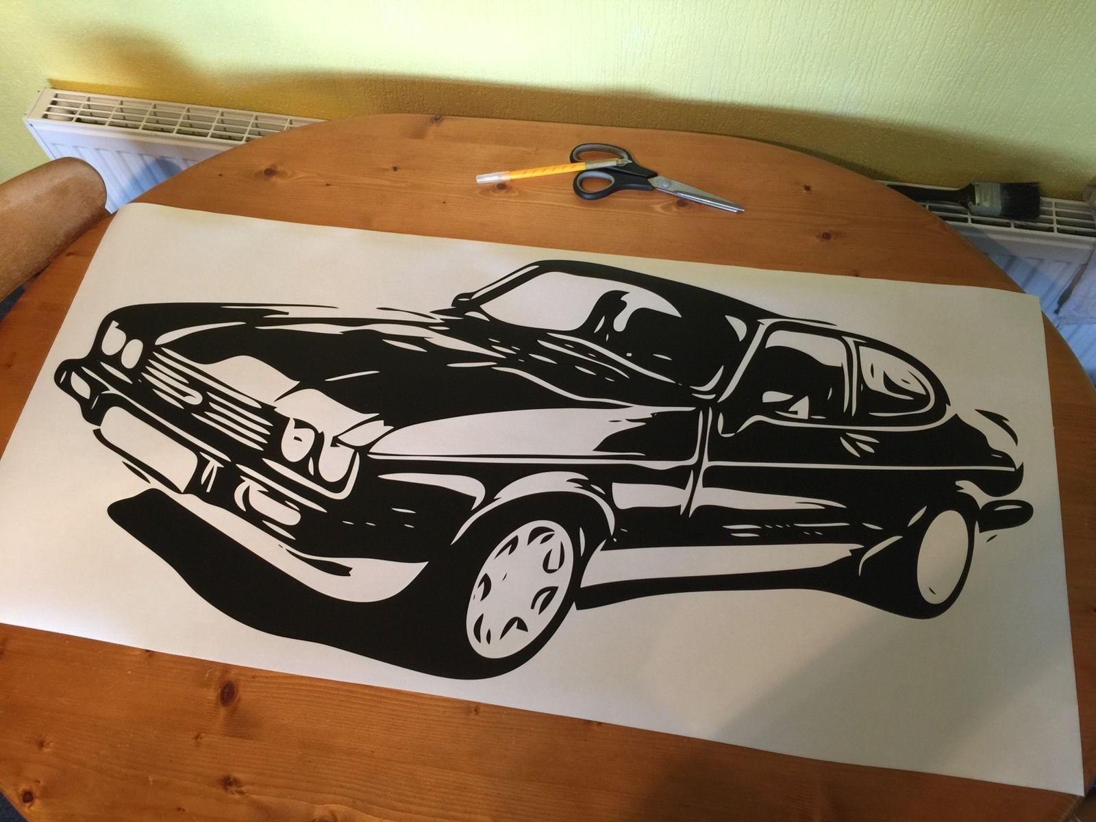 Antiquitaten Kunst Sonstige Old Fords Never Die They Just Get Faster Funny Car Sticker Decal Escort Window