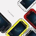 2017 novo telefone p9 case amor mei metal alumínio à prova de choque case capa para huawei p9 + gorilla glass