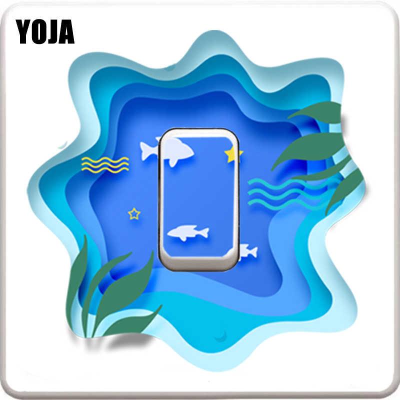 YOJA mode sous-marine monde mur autocollant interrupteur autocollant haute qualité PVC décor 11SS0304
