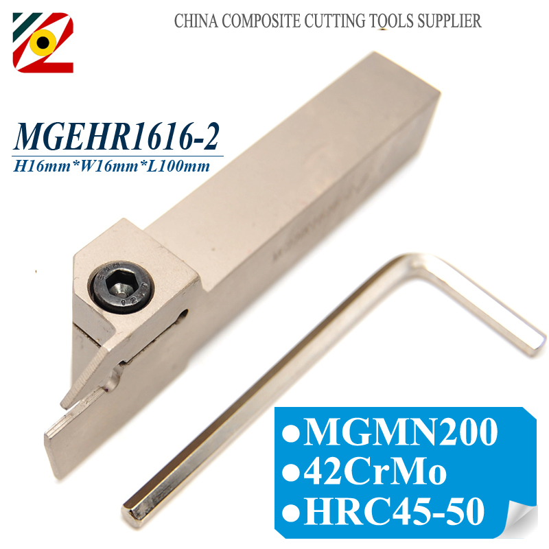 EDGEV 1PC MGEHR1616-2 MGEHR1616-3 MGEHR1616 MGEHL1616-2 Grooving Tool Holder CNC Lathe Cut off Cutter For Carbide Insert MGMN200