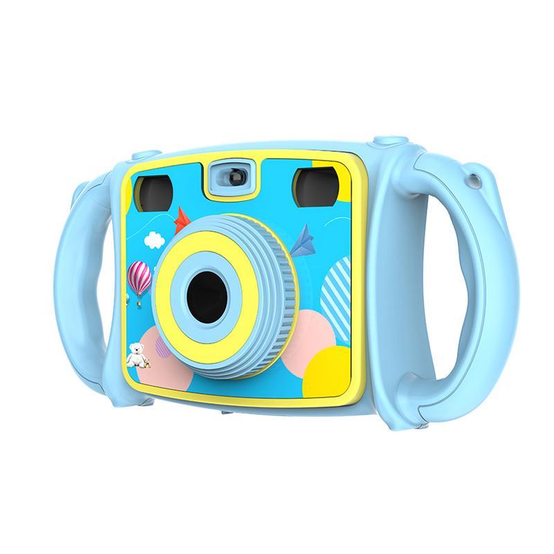 Детская цифровая камера Zoom Dual-Lens Video camera Dual Selfie camera 1080 P HD видео рекордер камера видеокамера ЖК-экран 4X