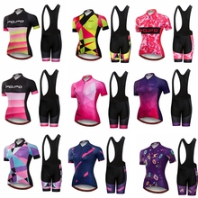 2018 Pro Team Short Sleeve Women Cycling Jersey Set Bike Shorts Set Gel Pad MTB Ropa Ciclismo Riding Wear Bicycle Clothes Purple цена