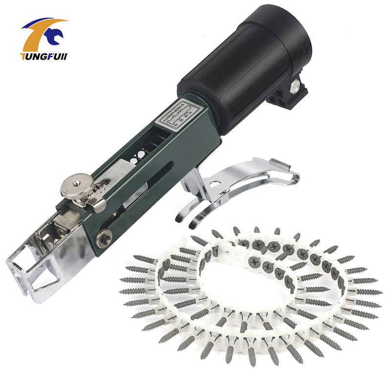 Upgrade Automatic Chain Nail Gun Adapter Screw Gun For Electric Drill Woodworking Tool Cordless Power Drill