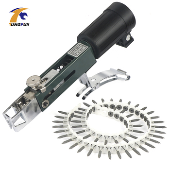Upgrade Automatic Chain Nail Gun Adapter Screw Gun for Electric Drill Woodworking Tool Cordless Power Drill 220v 530w 1pc screw speed control hand held electric drill automatic continuous electric screw gun wood finishing tool