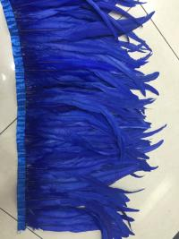 Free shipping new design 5 Yard/lcolor Rooster Coque Tail Fringes 30 35cm Sewing on Rooster feather trimming/ribbon 12 colors-in Feather from Home & Garden    3