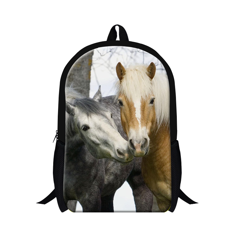 Fashionable animal 3D print mens backpack,Plush horse back pack for boys,cool bookbags for teenager,stylish Shoulder Bagpack