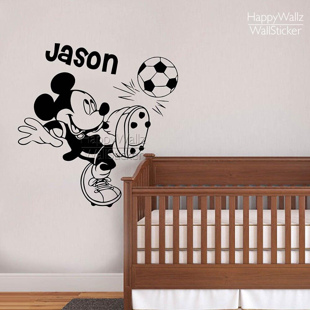 Diy Name Wall Art For Nursery : Minky mouse name wall sticker diy baby nursery