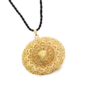 Image 5 - WANDO Dubai Ethiopia Africa India Gold Sun God Good Luck Islam Pendant Necklace Polyester Rope Chain Necklace Jewelry for Women