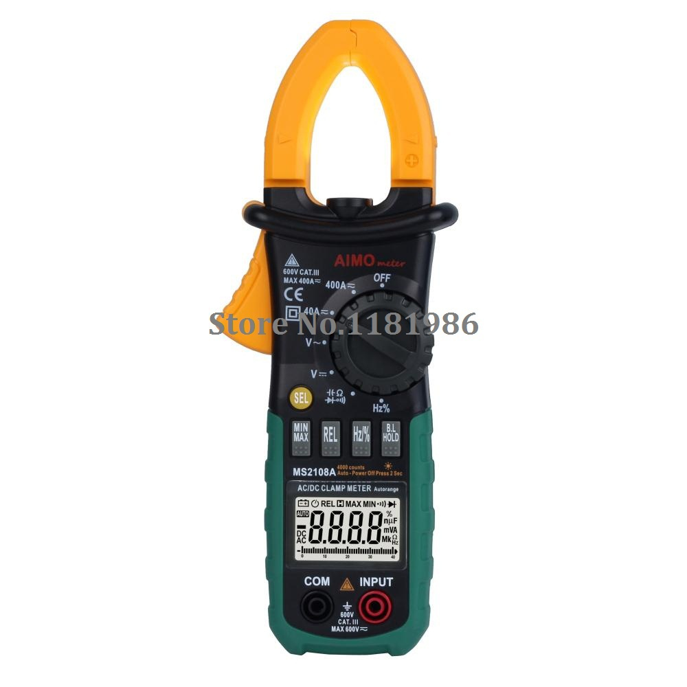 AIMO Aimometer MS2108A Digital LCD AC DC Current Clamp Meter Auto Range Multimeter Frequency Capacitance Meter Tester  цены