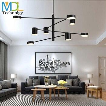 Nordic creative simple ceiling led chandelier light AC100-240V modern living room lighting fashion restaurant lamp