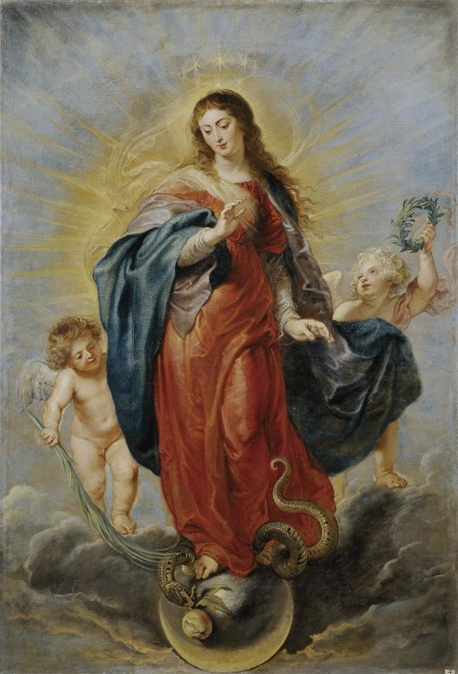 wholesale painting # TOP classical art work Rubens, Peter Paul La Inmaculada Concepcion replica print oil painting ON canvas