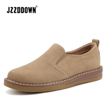 Cow Suede Leather women oxford shoes Spring Ladies  Flats sneakers Loafers Casual Shoe Autumn Boat Shoes 2018 Moccasin Plus Size