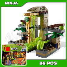 86pcs Ninja Venomari Shrine Zane ZX Ancient Snake Launch 9753 Model Assemble Building Blocks Toys Bricks Compatible With(China)