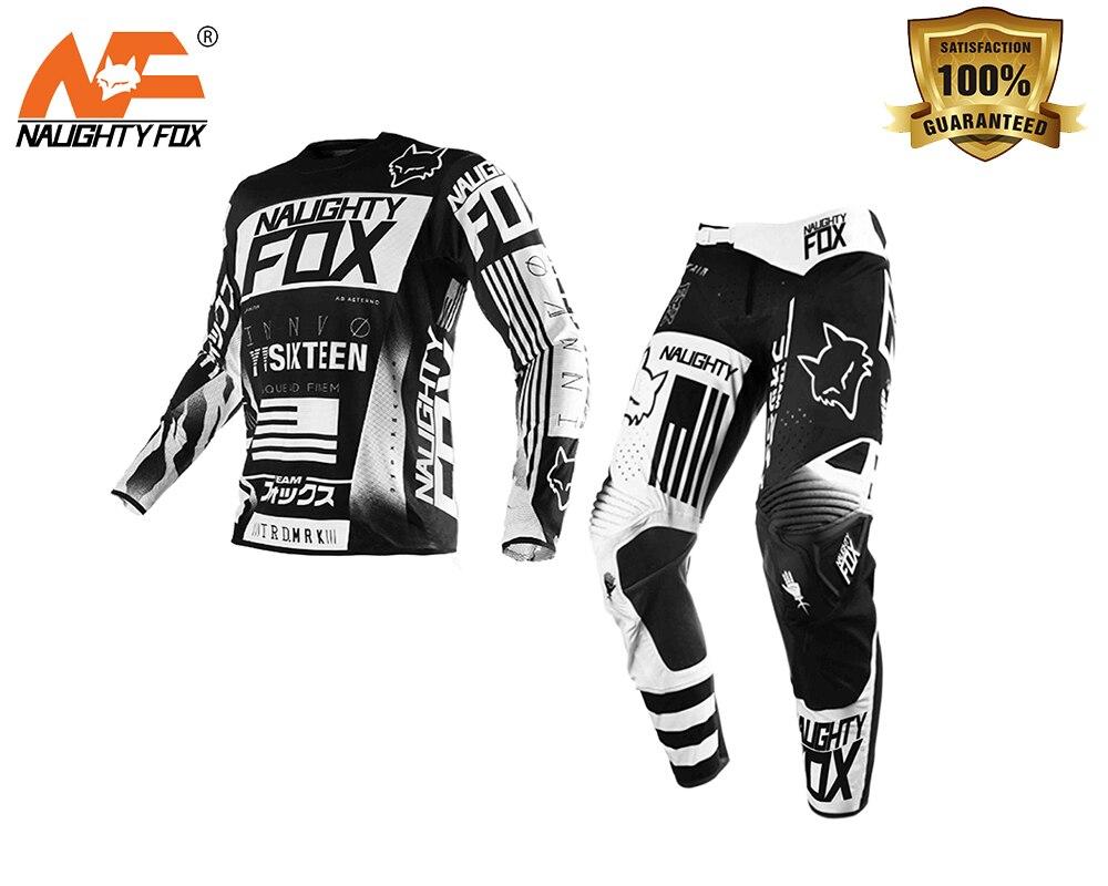 NAUGHTY FOX 360 Flight Pant/Jersey MX Combo Motocross Dirtbike Offroad Sport RACING JERSEY Set Black брюки asics брюки jersey pant