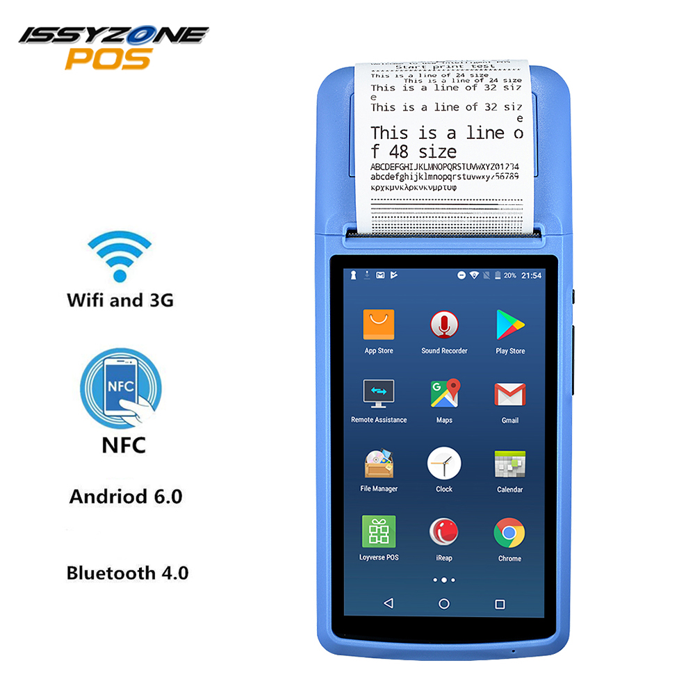 Issyzonepos Receipt Printer Gps-Camera Pos Terminal WIFI Handheld Bluetooth Android-6.0