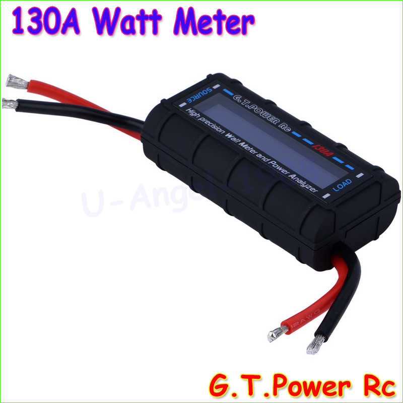 GT Power LCD RC 130A Watt Meter Power Analyzer Watts Up Battery Balance Ampere Meter new digital balance voltage power watt meter analyzer tester checker for rc helicopter battery charger 60v 100a wattmeter