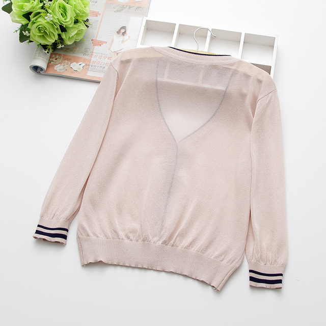 special price, thin knitted linen sweater, women's cardigan jacket, 2019 summer thin sunscreen, short air conditioning shirt. 3