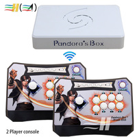 Arcade Controller Kit 2 Players Joystick Pandora's Box 6 1300 in 1 Wireless Arcade Fighting Game Stick Connected to TV PC PS3