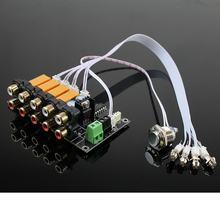 AC/DC Signal Dentrée Audio Sélecteur Carte Relais Signal Stéréo Commutation Amplificateur RCA Pour Haut parleurs