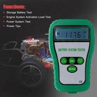 Digital Battery Tester Analyzer Alternator Battery System Tester 12V LCD Cranking Amps Battery Resistance Voltage Life Analysis