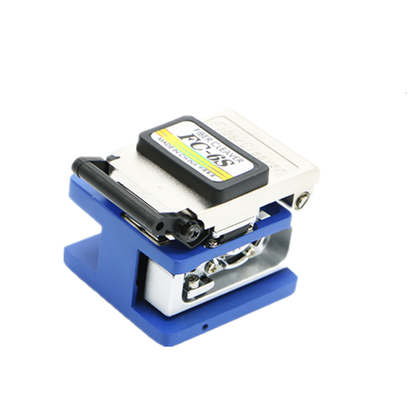 Free shipping Fiber Optic FTTH Tool Kit with FC-6S Fiber Cleaver and Optical Power Meter 5km Visual Fault Locator Wire stripper
