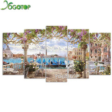 YOGOTOP DIY Diamond Painting Cross Stitch Kits Full Diamond Embroidery 5D Diamond Mosaic Home Decor seaside villa 5pcs ML275 yogotop diy diamond painting cross stitch kits full diamond embroidery 5d diamond mosaic decor colorful butterfly 5pcs ml307